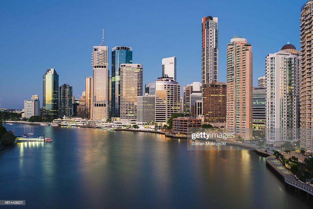 Brisbane Skyline from Story Bridge at Sunrise