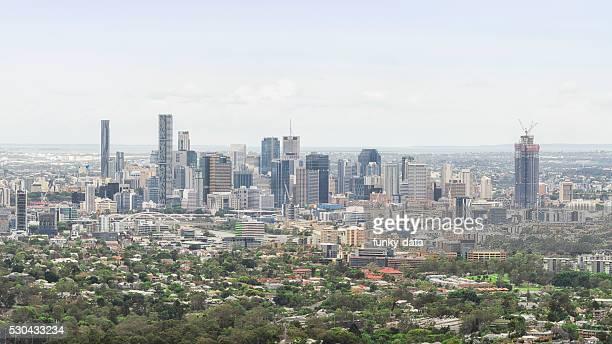 Brisbane urban skyline in daylight