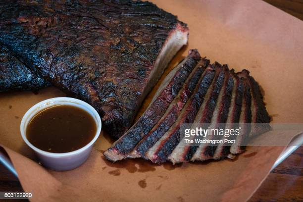 Brisket is pictured Texas 202 Barbeque of Maryland in Brandywine Maryland is pictured for the $20 Diner's annual BBQ rankings Owners Rev Ward and...