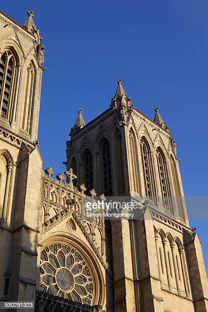 Bristol Cathedral and blue sky.