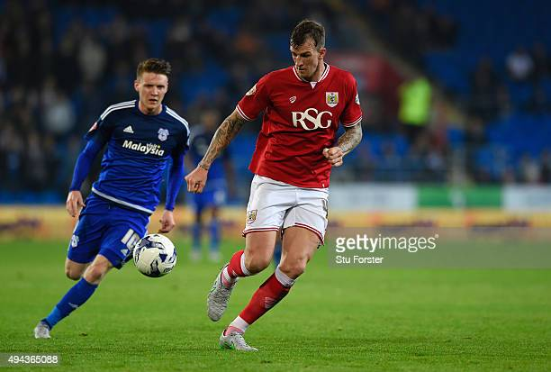 Bristol City player Aden Flint in action during the Sky Bet Championship match between Cardiff City and Bristol City at Cardiff City Stadium on...