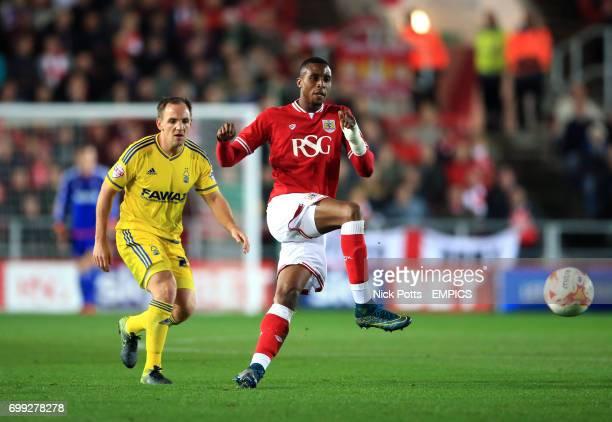Bristol City's Jonathan Kodjia in action