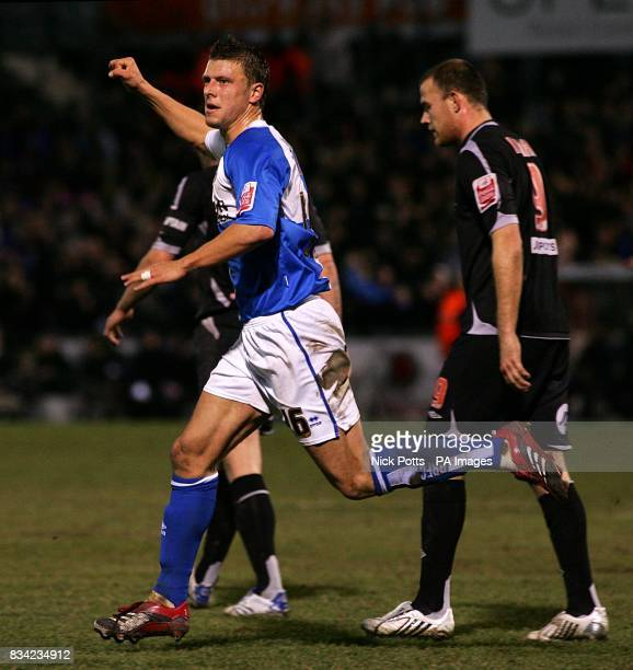 Bristol Rovers' Danny Coles celebrates scoring his sides first goal of the game