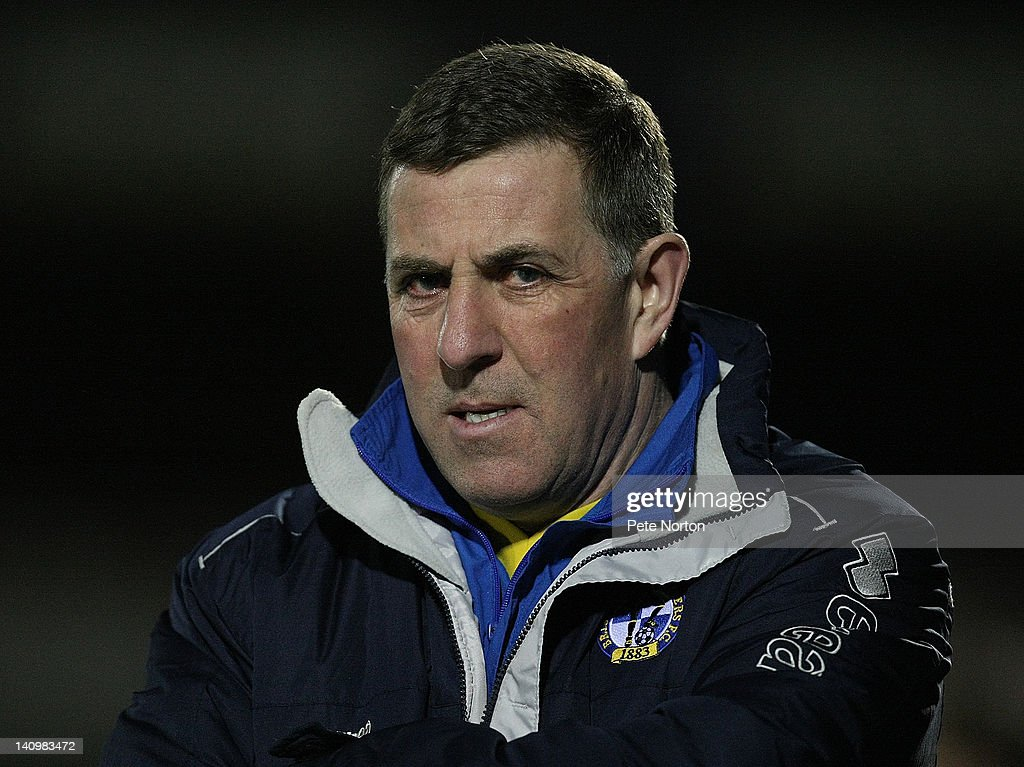 Bristol Rovers manager Mark McGhee looks on during the npower League Two match between Northampton Town and Bristol Rovers at Sixfields Stadium on...