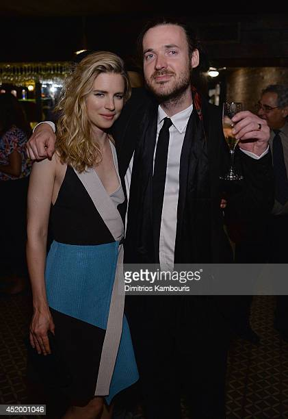 Brit Marling and director Mike Cahill attend the after party for 'I Origins' screening at Bowery Hotel Terrace on July 10 2014 in New York City