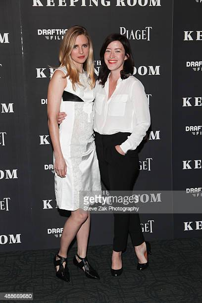Brit Marling and Julia Hart attend 'The Keeping Room' New York premiere at Sunshine Landmark on September 16 2015 in New York City