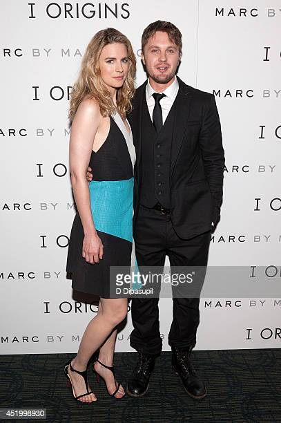 Brit Marling and Michael Pitt attend the 'I Origins' New York Premiere at Sunshine Landmark on July 10 2014 in New York City
