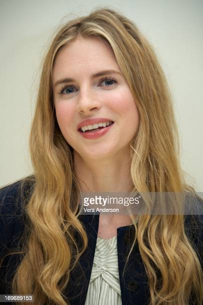 Brit Marling at 'The East' Press Conference at the Four Seasons Hotel on May 28 2013 in Beverly Hills California