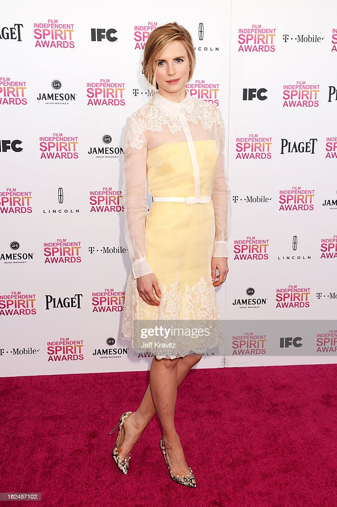 Brit Marling attends the 2013 Film Independent Spirit Awards at Santa Monica Beach on February 23, 2013 in Santa Monica, California.