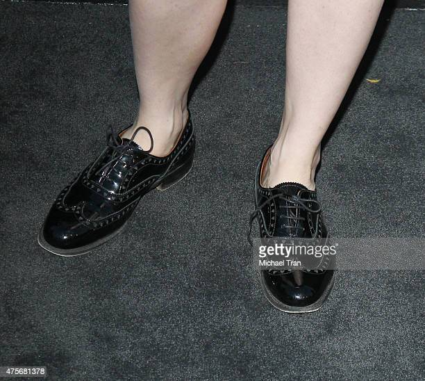 Brit Marling shoe detail arrives at the 2015 Sundance Institute Celebration Benefit held at 3LABS on June 2 2015 in Culver City California