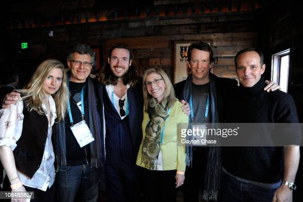 Brit MarlingJon Amiel Mike Cahill Paula Apsell Sean Carroll and Clark Gregg attend the Alfred P Sloan Foundation Reception at the High West...