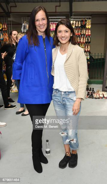 Brita Fernandez Schmidt and Hikari Yokoyama attend the #SheInspiresMe Car Boot Sale for Women for Women International at Brewer Street Car Park on...