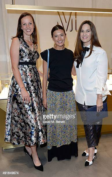 Brita Fernandez Schmidt Hikari Yokoyama and Monica Vinader attend the Monica Vinader and Brita Fernandez Schmidt launch of the #SheInspiresMe...