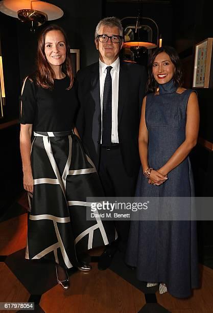 Brita Fernandez Schmidt Jay Joplin and Hikari Yokoyama attend a private dinner hosted by Hikari Yokoyama to celebrate the Harper's Bazaar charity...