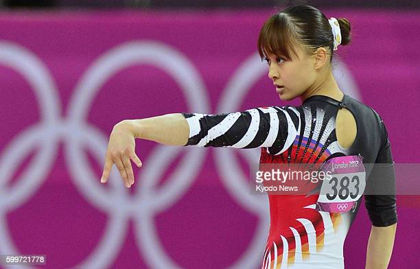 LONDON Britain Japan's Rie Tanaka performs in the floor exercise during the London Olympics women's gymnastics qualification round at North Greenwich...
