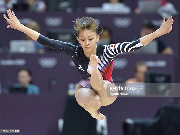 LONDON Britain Japan's Rie Tanaka performs on the balance beam during the women's gymnastics allaround final at the 2012 London Olympics at North...