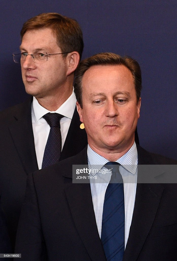 Britain Prime minister David Cameron reacts during EU - Summit at the EU headquarters in Brussels on June 28, 2016. Prime Minister David Cameron said today he wants the 'closest possible' relations with the EU after Britain voted to leave the bloc, adding the split should be 'as constructive as possible'. As he arrived at a Brussels summit, Cameron, who is to step down within weeks, told reporters that, while Britain was leaving the EU, 'we mustn't be turning our backs on Europe.' THYS
