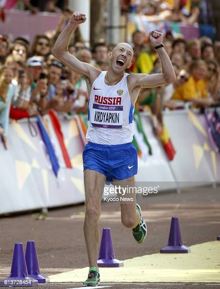 LONDON Britain Russia's Sergey Kirdyapkin wins the men's 50kilometer walk at the 2012 London Olympics on The Mall in London on Aug 11 with a time of...