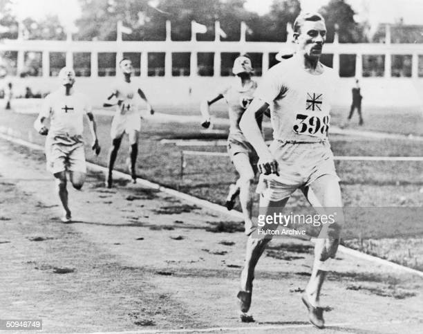 Britain's Albert Hill wins the 800 and the 1500 metres at the 1920 Antwerp Olympics