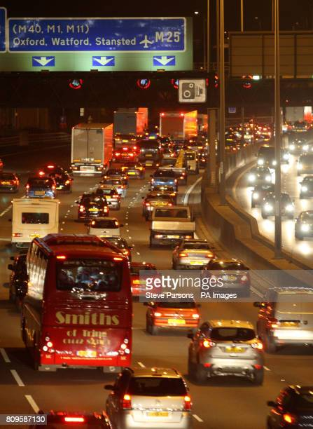 Britain's busiest motorway during rush hour as the London orbital road is 25 years old on SaturdayPicture date Friday October 28 2011 First suggested...