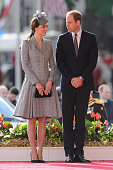 Britain's Catherine Duchess of Cambridge and Prince William Duke of Cambridge attend the ceremonial welcome ceremony for Singapore's President Tony...