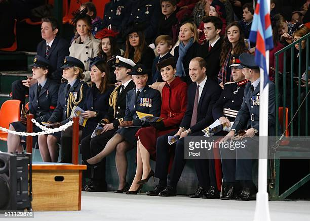 Britain's Catherine Duchess of Cambridge and Prince William Duke of Cambridge attend a ceremony marking the end of RAF Search and Rescue Force...