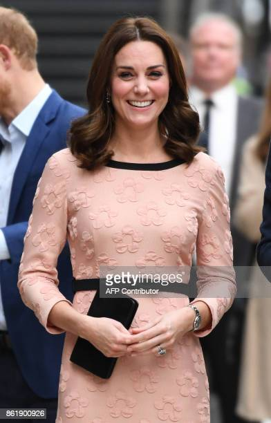 Britain's Catherine Duchess of Cambridge attends a charities forum event at Paddington train station in London on October 16 2017 The Duke and...
