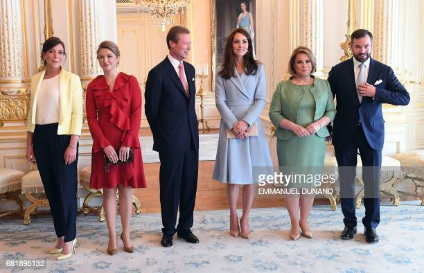 Britain's Catherine Duchess of Cambridge Grand Duke Henri of Luxembourg Grand Duchess MariaTeresa of Luxembourg Prince Guillaume Hereditary Grand...