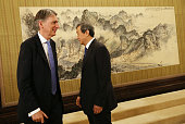 Britain's Chancellor of the Exchequer Philip Hammond and Chinese VicePremier Ma Kai meet at Zhongnanhai Leadership compound in Beijing China 22 July...