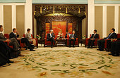 Britain's Chancellor of the Exchequer Philip Hammond attends a meeting with Chinese Vice Premier Ma Kai during their meeting at Zhongnanhai...