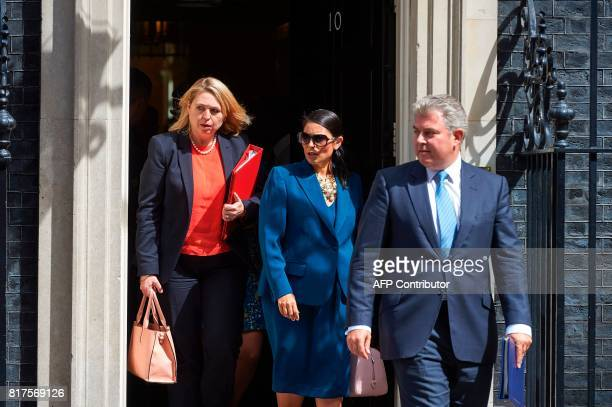 Britain's Culture Media and Sport Secretary Karen Bradley Britain's International Development Secretary Priti Patel and Britain's Minister of State...