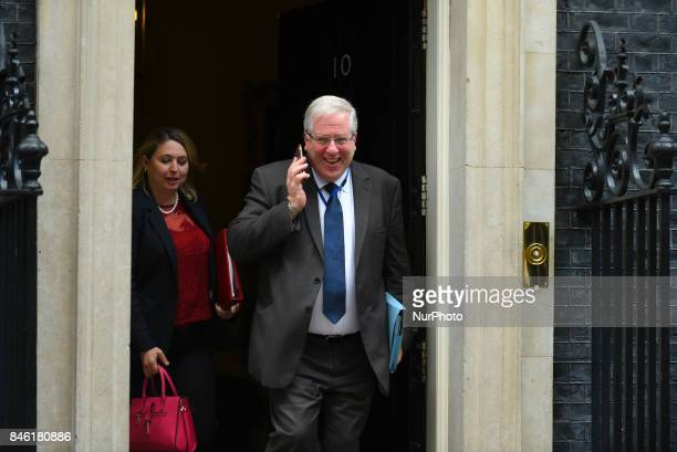 Britain's Culture Media and Sport Secretary Karen Bradley departs after attending the weekly Cabinet meeting at 10 Downing Street London on September...