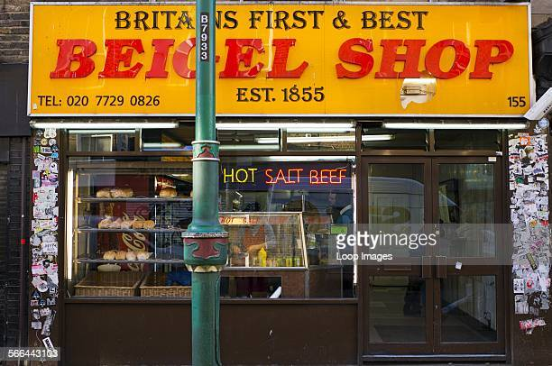 Britain's first and best Beigel Shop in Brick Lane in the East End of London