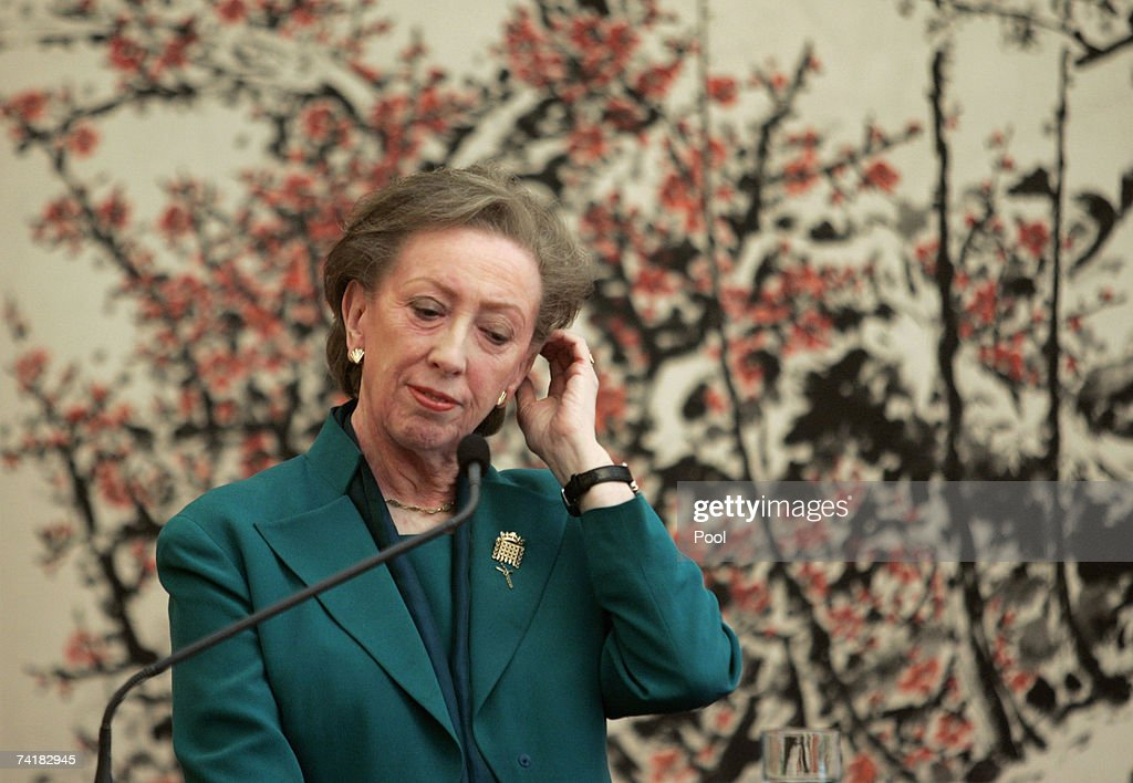 Britain's Foreign Secretary Margaret Beckett attends a press conference after meeting China's Foreign Minister Yang Jiechi on May 18, 2007 in Beijing, China. The British foreign secretary is on an 8 day official visit to China, Hong Kong and Japan.