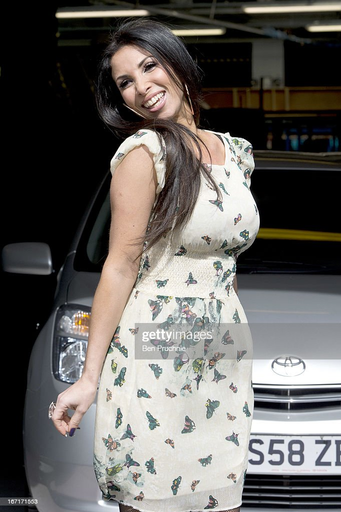 Britains Got Talent Contestant Francine Lewis sighted departing ITV Studios on April 22, 2013 in London, England.