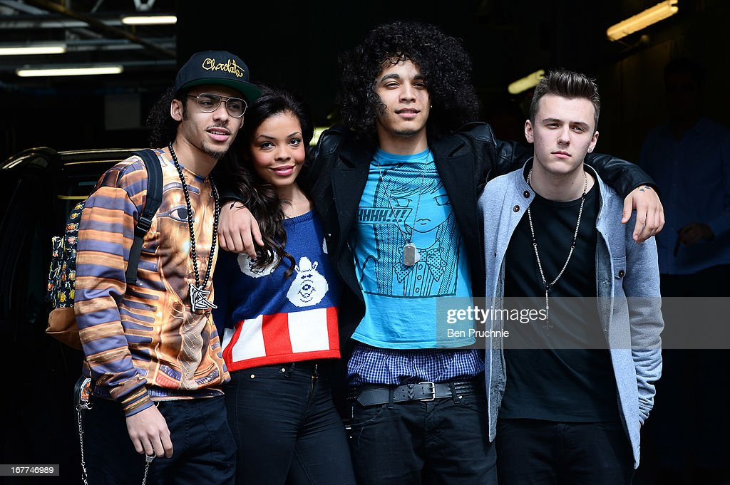 Britain's Got Talent contestants Luminites sighted departing ITV Studios on April 29, 2013 in London, England.