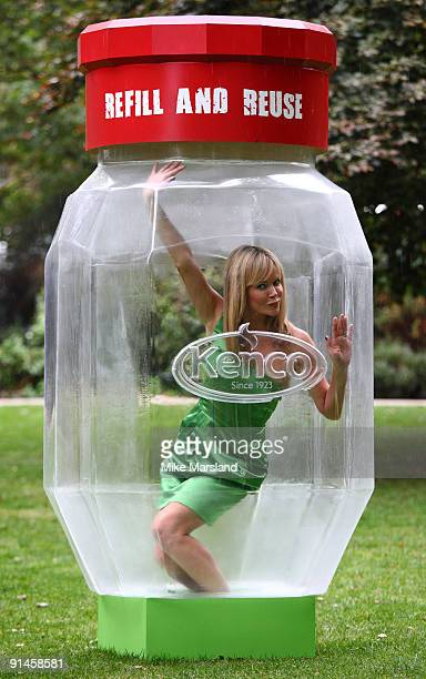 Britain's Got Talent star Amanda Holden leaves the judging panel to strike a dramatic pose in Russell Square Gardens on Monday in a bid to get Brits...