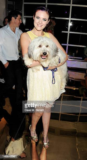 Britain's Got Talent winners Ashleigh Butler and Pudsey attends the WTA PreWimbledon Party presented by Dubai Duty Free at Kensington Roof Gardens on...