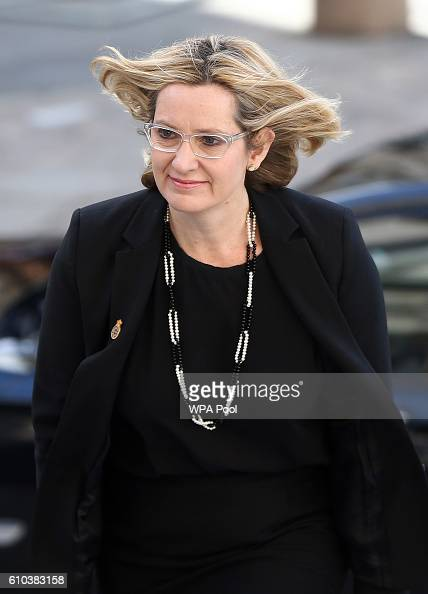 Britain's Home Secretary Amber Rudd attends the National Police Memorial Service at St Paul's Cathedral on September 25 2016 in London England
