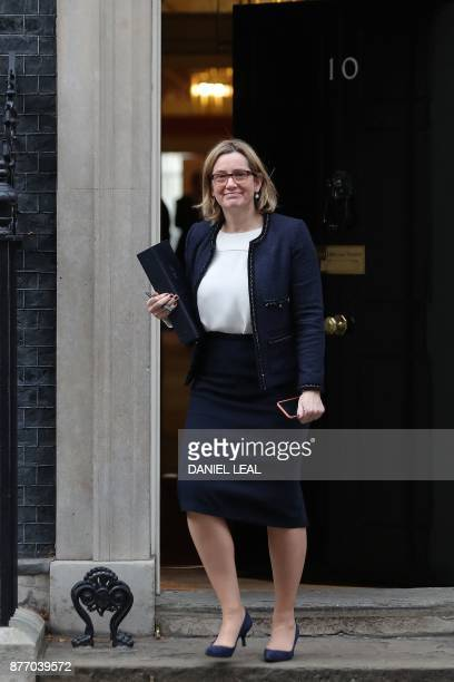 Britain's Home Secretary Amber Rudd leaves 10 Downing Street in central London on November 21 2017 Senior British ministers have agreed to offer more...
