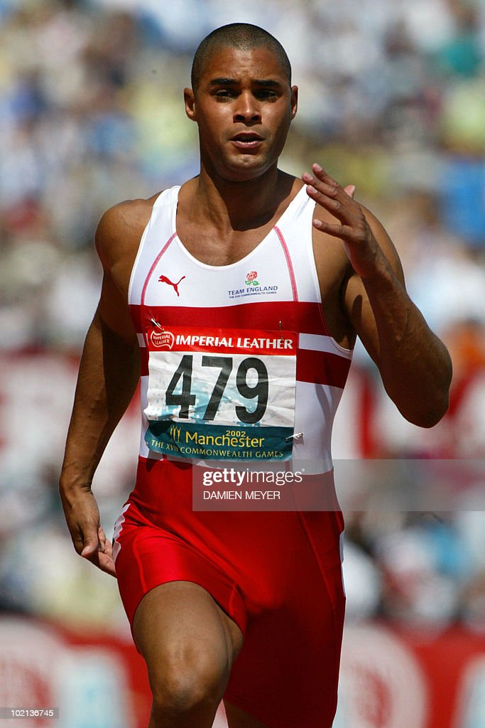 Britain's Jason Gardener in action during the 2002 Manchester Commonwealth Games 100m first round 26 July 2002.
