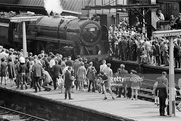 Britain's last steam locomotive passenger service The Stanier engine 'Oliver Cromwell' Liverpool to Carlisle via Manchester 14th August 1968
