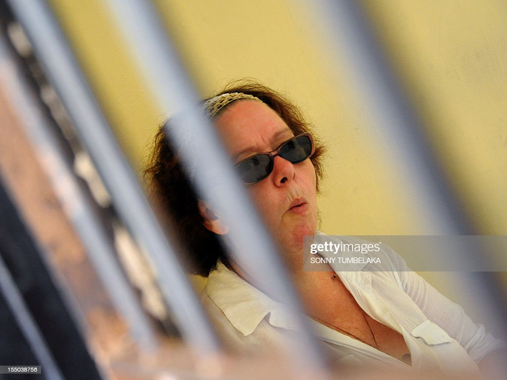 Britain's Linsay June Sandiford, 56, waits at holding cell before her trial at a court in Denpasar on the Indonesian resort island of Bali on October 31, 2012. Sandiford's trial, who is accused of smuggling five kilogrames (11 pounds) of cocaine into Indonesia. The 56-year-old Briton was arrested in May on arrival at the Denpasar airport on the resort island of Bali after the drug was allegedly found in her bag.