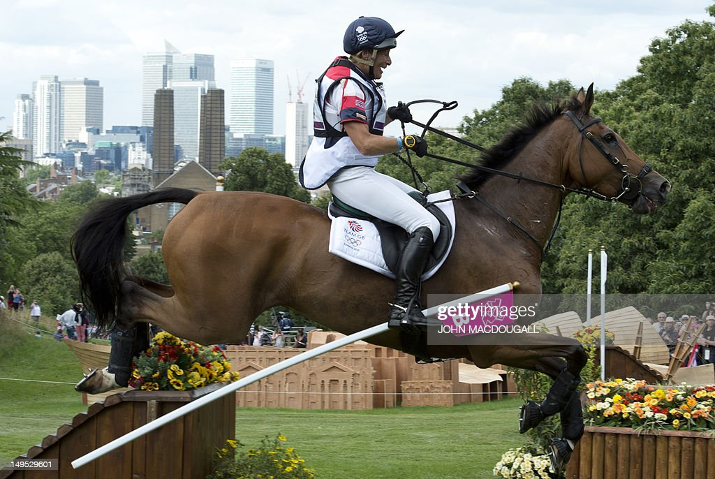 Britain's Mary King competes on Imperial Cavalier in the Cross Country phase of the Eventing competition of the 2012 London Olympics at the Equestrian venue in Greenwich Park, London, July 30, 2012.
