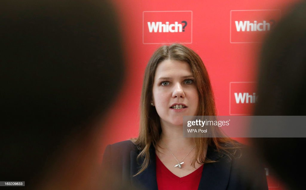 Britain's Minister for Employment Relations and Consumer Affairs Jo Swinson speaks during a news conference about the consumer payday loan market on March 6, 2013 in London, England. Consumer Minister Jo Swinson and Economic Secretary to the Treasury Sajid Javid announced the government's intention to move regulation of consumer credit to the new Financial Conduct Authority (FCA) from April 2014. With plans for a new code of practice and advertising restrictions, payday loan firms could face losing their licences if they fail to implement changes to their practices within 12 weeks, following an inquiry by the Office of Fair Trading which uncovered evidence of widespread irresponsible lending, inaccurate affordability checks and firms failing to explain accurately how payments would be collected.
