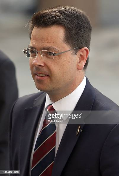 Britain's Northern Ireland Secretary James Brokenshire attends the National Police Memorial Service at St Paul's Cathedral on September 25 2016 in...