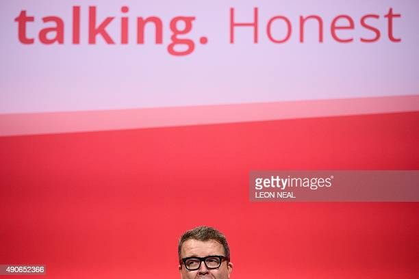 Britain's opposition Labour Party deputy leader Tom Watson addresses delegates on the final day of the annual Labour party conference in Brighton on...
