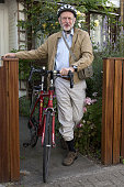 Britain's opposition Labour Party leader Jeremy Corbyn leaves his home by bicycle in London on July 26 2016 Corbyn an antiwar campaigner who is...