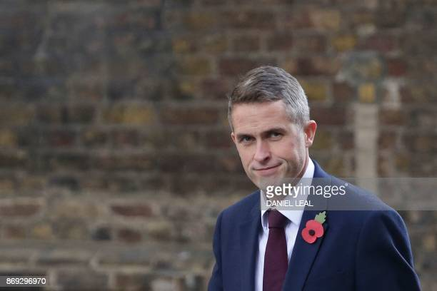 Britain's Parliamentary Secretary to the Treasury and Chief Whip Gavin Williamson is seen in Downing Street in central London on November 2 2017...