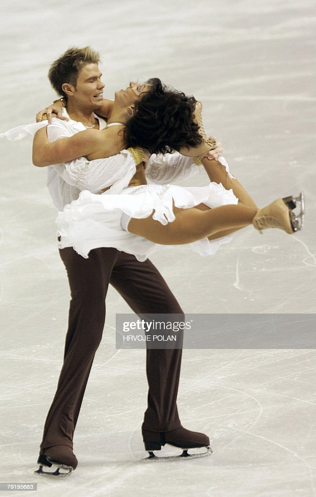Britain's Phillipa Towler-Green and Phillip Poole perform their original dance at the Dom Sportova Arena in Zagreb, 24 January 2008, during the European Figure Skating Championships 2008.